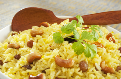 Arroz Integral com Nuts e Cúrcuma