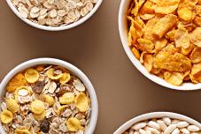 granola flakes e aveia