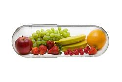 frutas em capsulas